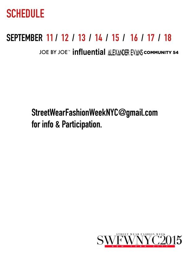 Street Wear Fashion Week NYC